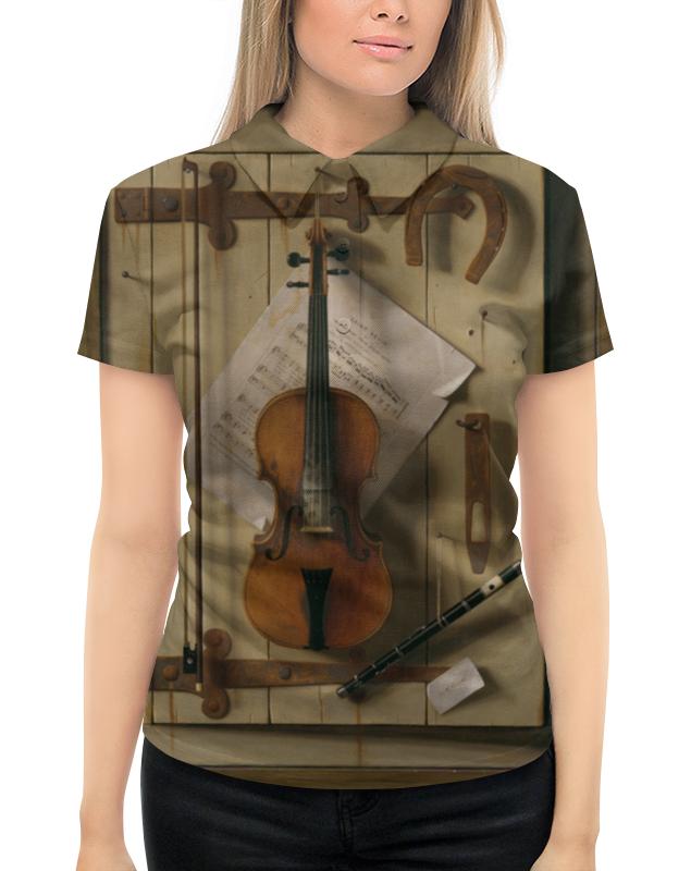 Рубашка Поло с полной запечаткой Printio Натюрморт со скрипкой (уильям харнетт) уильям уинн уэсткотт книга творения сефер йецира
