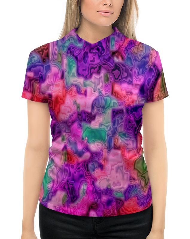 Рубашка Поло с полной запечаткой Printio Неоновые краски