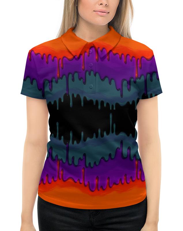 Рубашка Поло с полной запечаткой Printio Акварельные краски