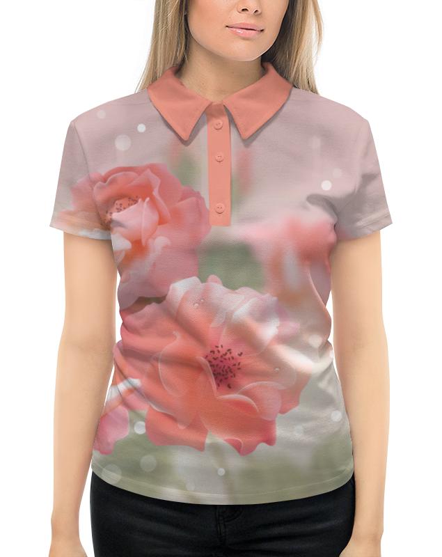 Рубашка Поло с полной запечаткой Printio Цветы printio рубашка поло с полной запечаткой