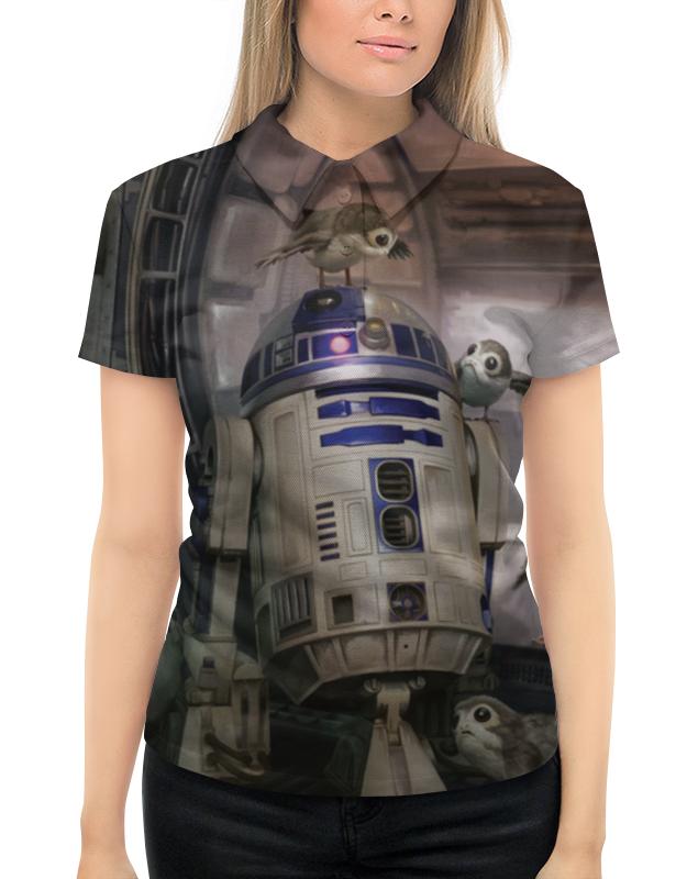 Рубашка Поло с полной запечаткой Printio Звездные войны - r2-d2 футболка с полной запечаткой для девочек printio звездные войны r2 d2