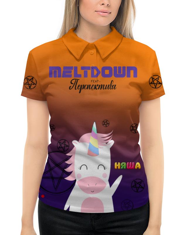 Фото - Рубашка Поло с полной запечаткой Printio Meltdown няша рубашка поло с полной запечаткой printio meltdown няша