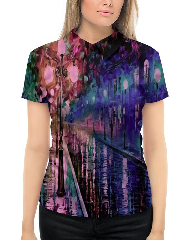 Рубашка Поло с полной запечаткой Printio Ночная улица ночная рубашка с кружевом olala