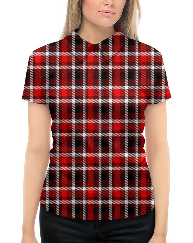 Рубашка Поло с полной запечаткой Printio Шотландка платье без рукавов printio шотландка