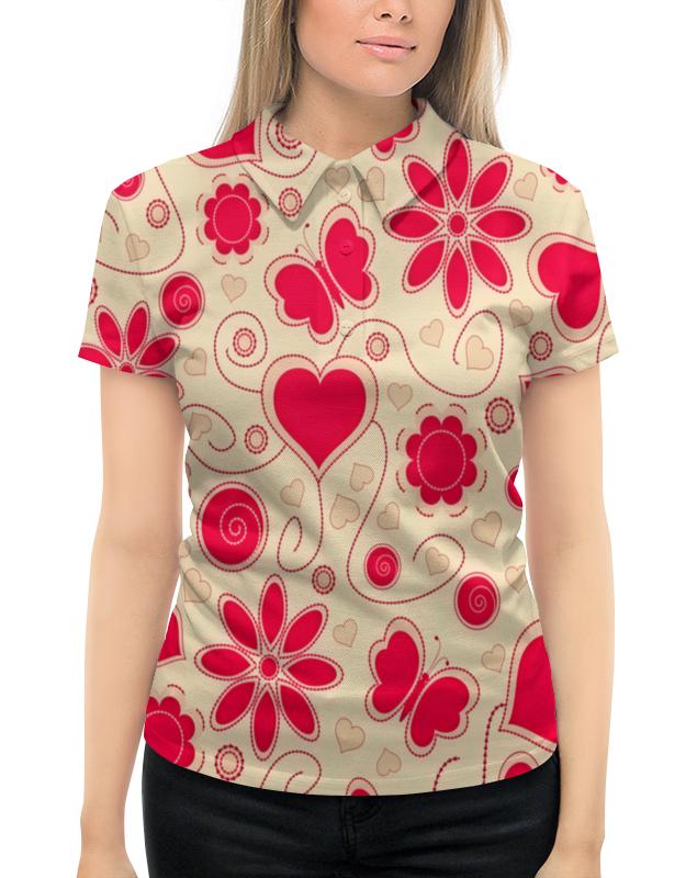 Рубашка Поло с полной запечаткой Printio Бабочки и цветы рубашка поло с полной запечаткой printio бабочки