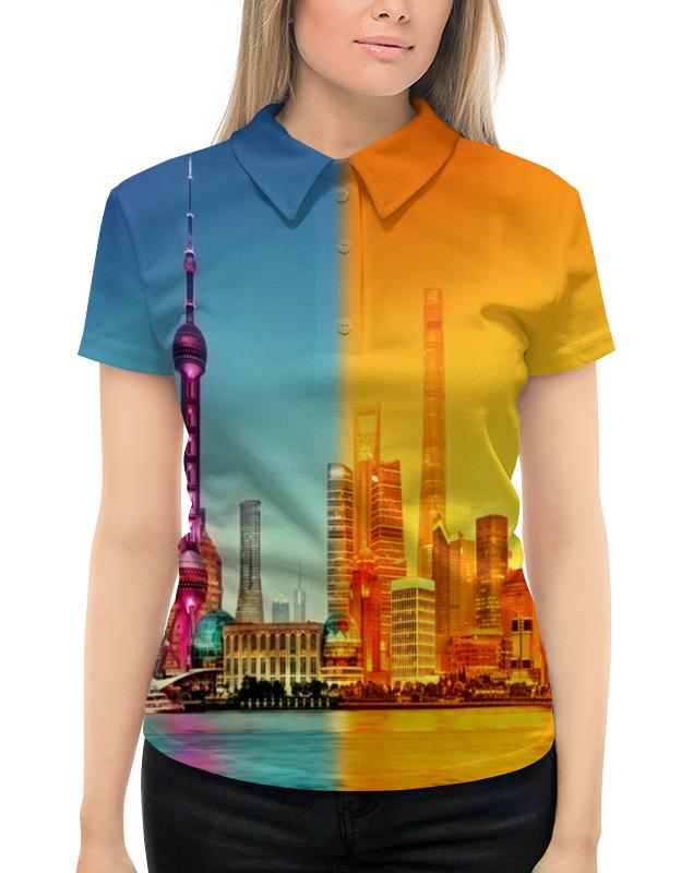 Рубашка Поло с полной запечаткой Printio Город в красках