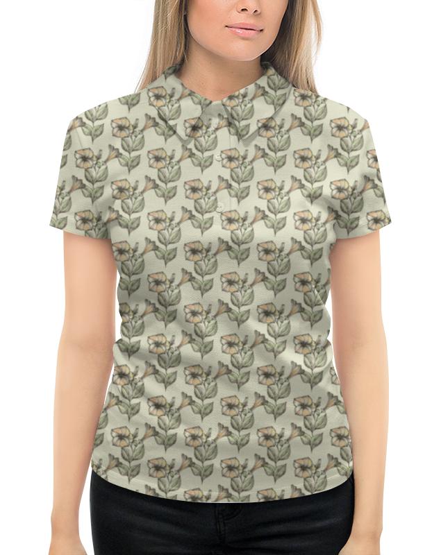 Рубашка Поло с полной запечаткой Printio Нежные цветы блокнот кофемана нежные цветы
