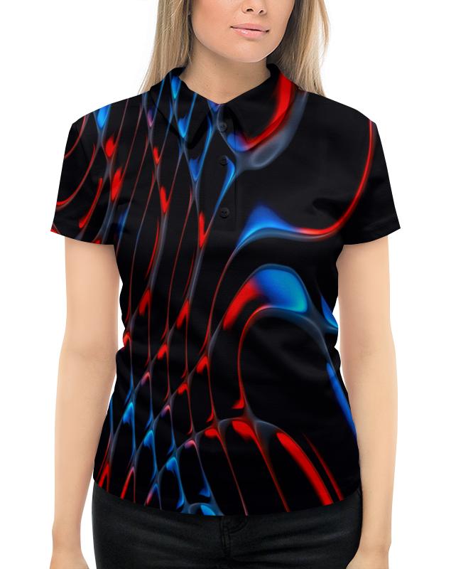 Рубашка Поло с полной запечаткой Printio Красно-синие полосы mayoral рубашка поло красно синяя в полоску