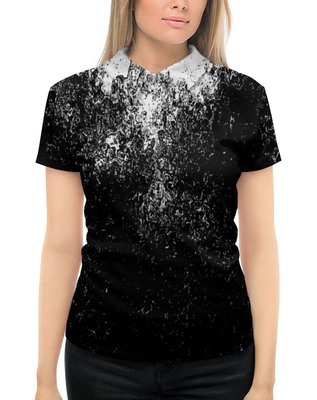 Рубашка Поло с полной запечаткой Printio Черно-белые краски поло print bar линии краски