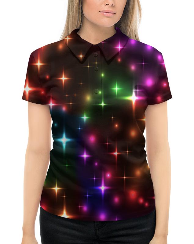 цена на Рубашка Поло с полной запечаткой Printio Яркие вспышки