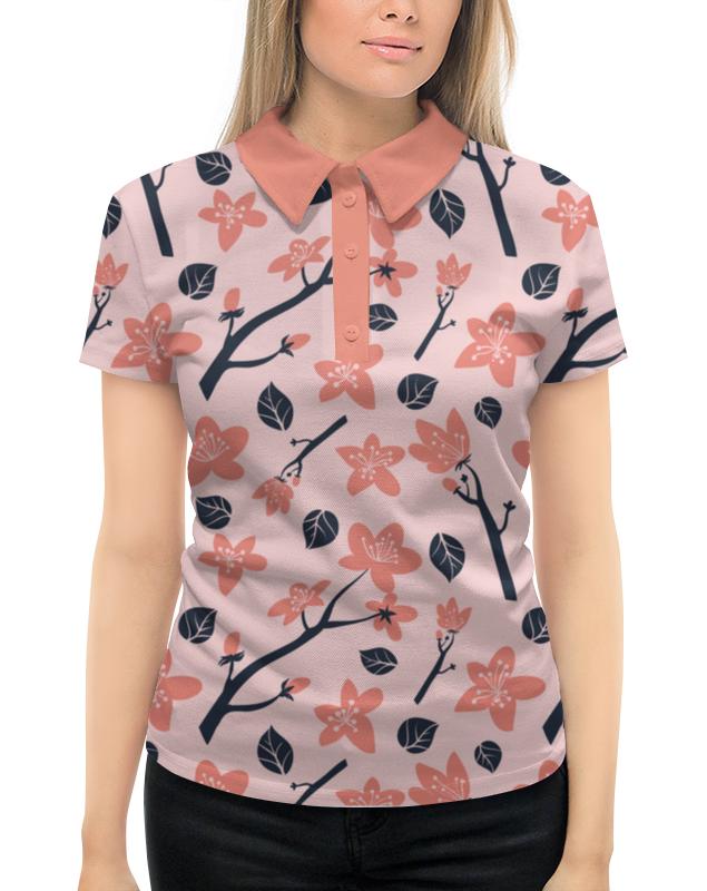 Рубашка Поло с полной запечаткой Printio Цветущее дерево