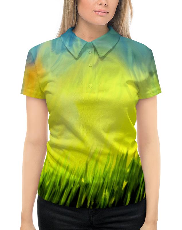 Рубашка Поло с полной запечаткой Printio Краски лета поло print bar линии краски