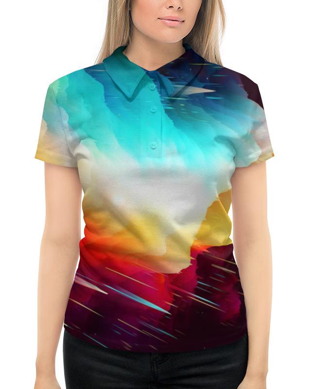 Рубашка Поло с полной запечаткой Printio Креатив рубашка рубашка chromosome chromosome ch036emsej71