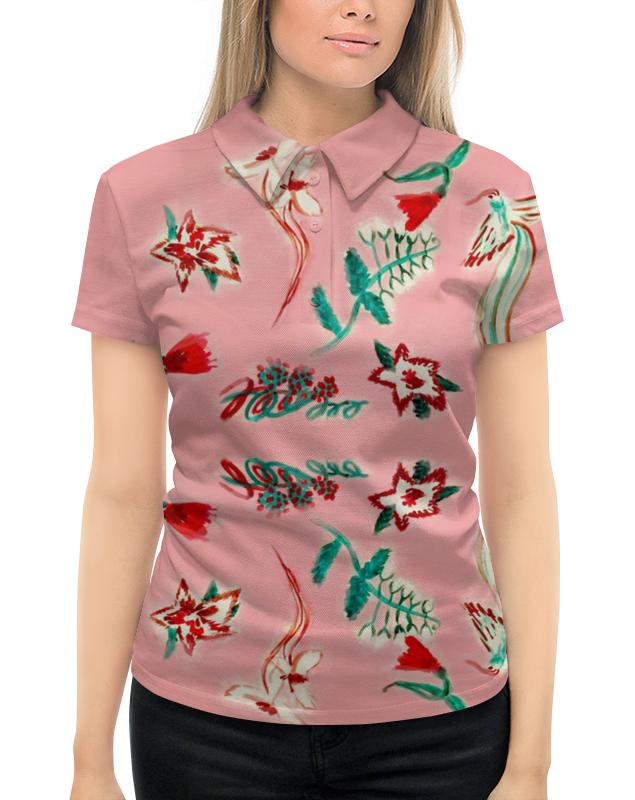 Рубашка Поло с полной запечаткой Printio Цветочная сказка юбка карандаш printio цветочная сказка