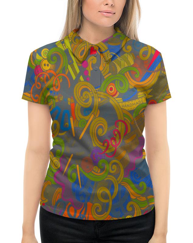 Рубашка Поло с полной запечаткой Printio Нитки