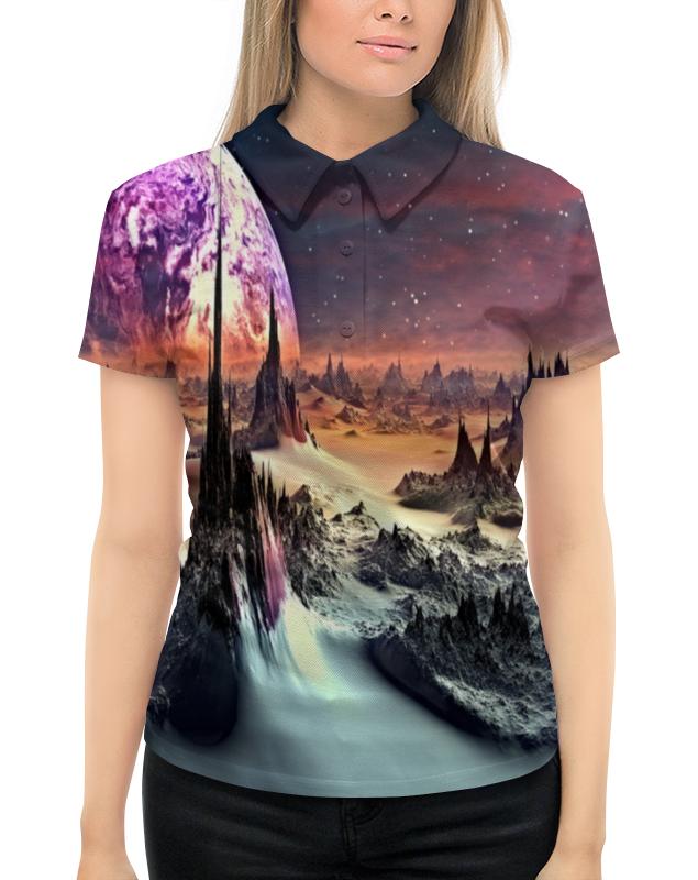 Рубашка Поло с полной запечаткой Printio Планеты рубашка поло printio фк нефтехимик