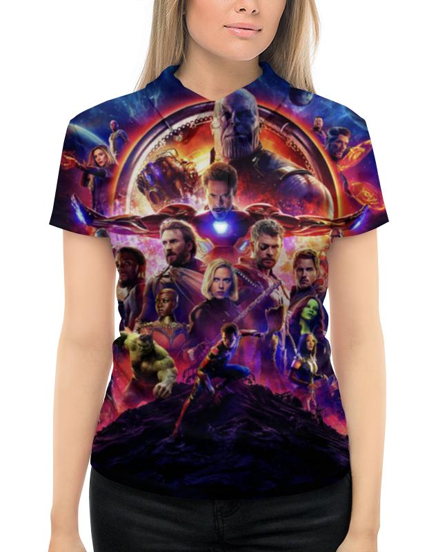 Рубашка Поло с полной запечаткой Printio Мстители цена 2017