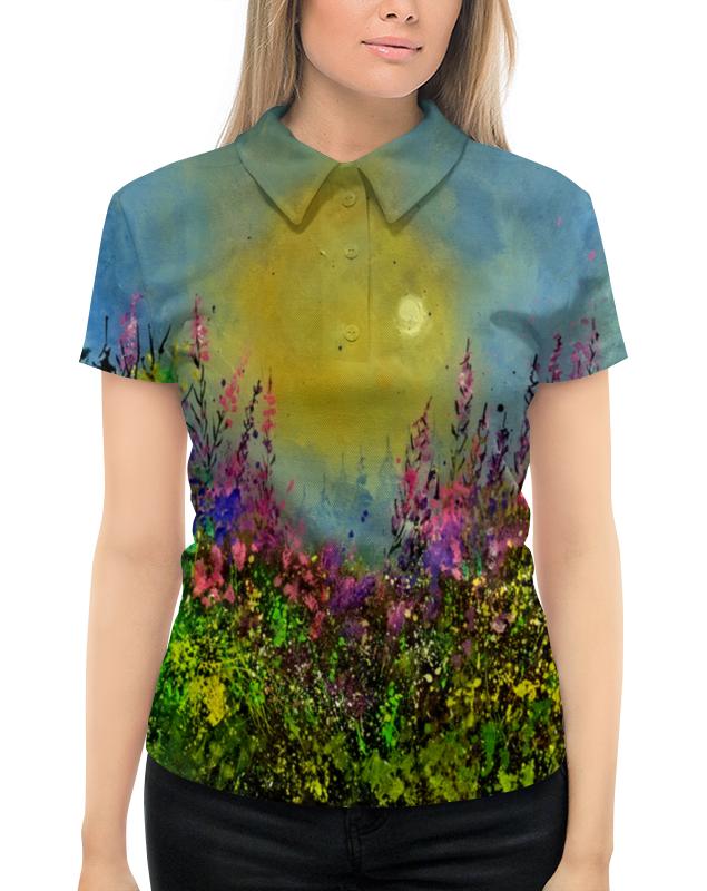 Рубашка Поло с полной запечаткой Printio Весенний пейзаж рубашка поло с полной запечаткой printio весенний узор