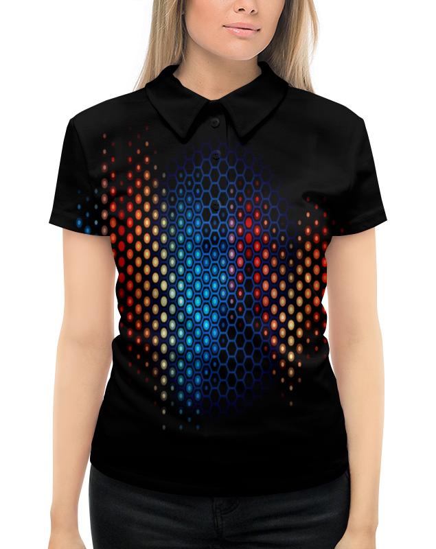 Рубашка Поло с полной запечаткой Printio Узор на черном рубашка поло с полной запечаткой printio весенний узор