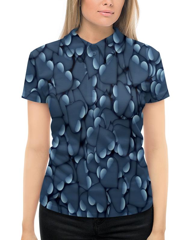 Рубашка Поло с полной запечаткой Printio Сердца