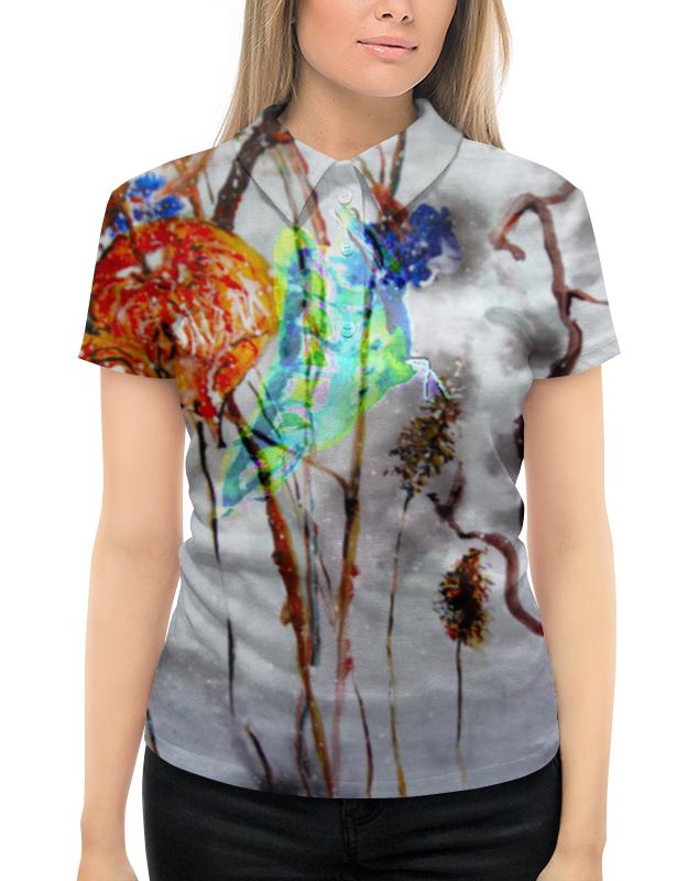 Рубашка Поло с полной запечаткой Printio Физалис и бабочка акунин б алмазная колесница