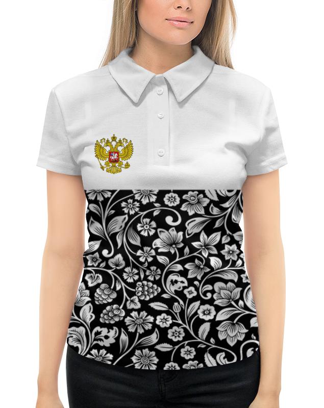 Printio Цветы и герб рубашка поло с полной запечаткой printio герб рф