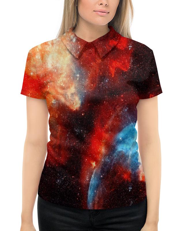 Рубашка Поло с полной запечаткой Printio Космос