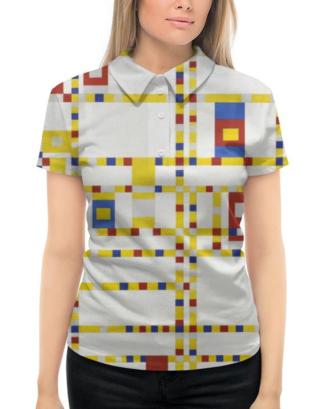 Рубашка Поло с полной запечаткой Printio Бродвей буги-вуги (питер мондриан) борцовка с полной запечаткой printio композиция питер мондриан