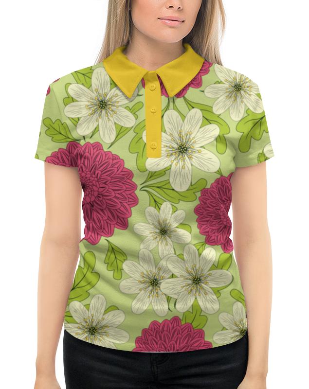 Рубашка Поло с полной запечаткой Printio Садовые цветы луч трафарет прорезной цветы садовые цвет синий