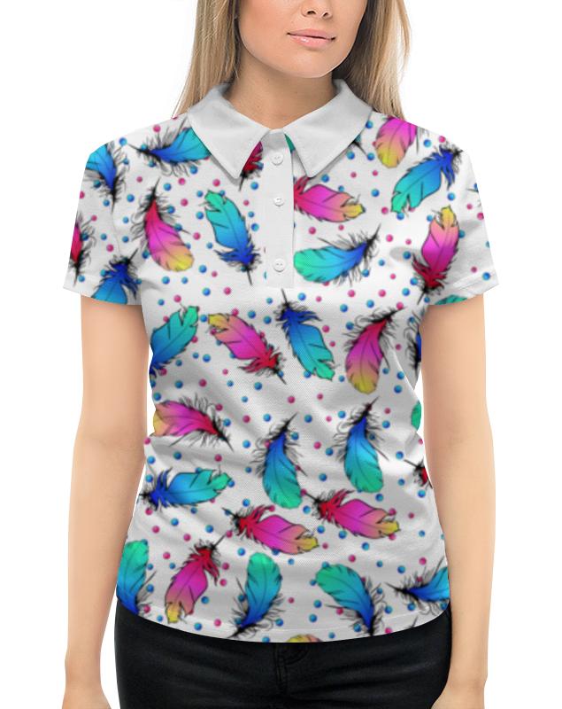 Рубашка Поло с полной запечаткой Printio Яркие перья цена
