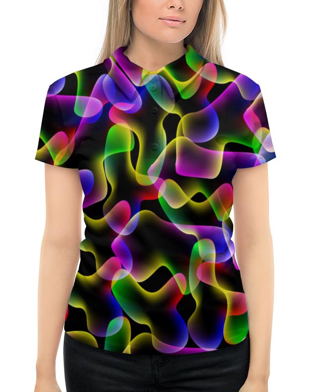 Рубашка Поло с полной запечаткой Printio Неоновые пятна рубашка поло с полной запечаткой printio пятна краски