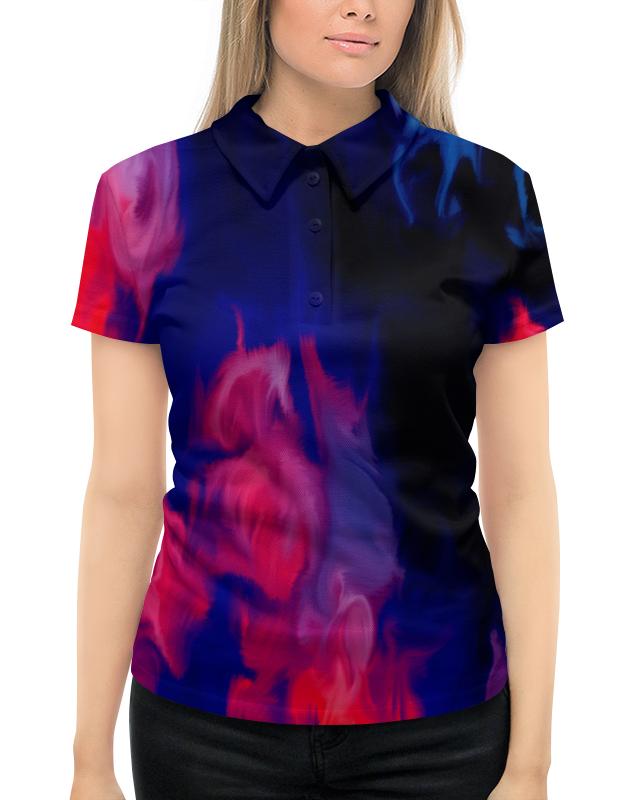 Рубашка Поло с полной запечаткой Printio Узор красками рубашка поло с полной запечаткой printio весенний узор