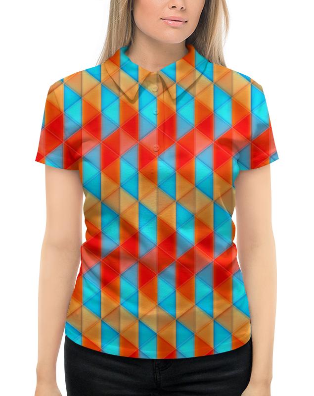 Рубашка Поло с полной запечаткой Printio Треугольники