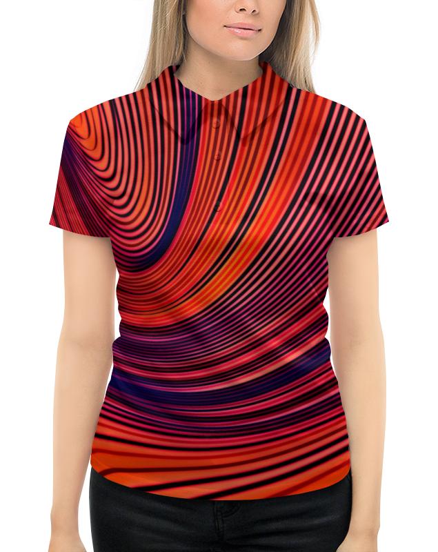 Рубашка Поло с полной запечаткой Printio Цветные полосы юбка в складку printio цветные полосы