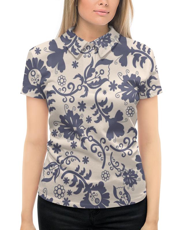 Рубашка Поло с полной запечаткой Printio Весенний узор футболка print bar узор весенний