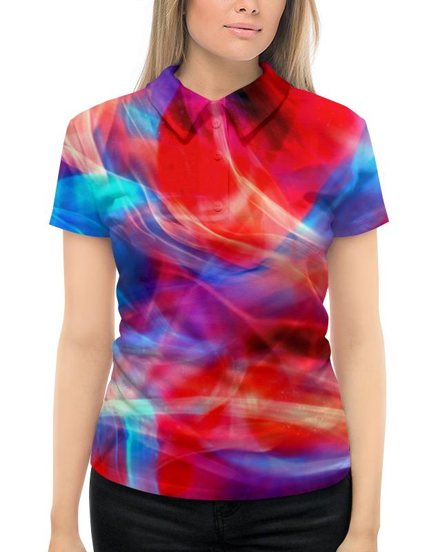 Рубашка Поло с полной запечаткой Printio Яркие краски поло print bar линии краски