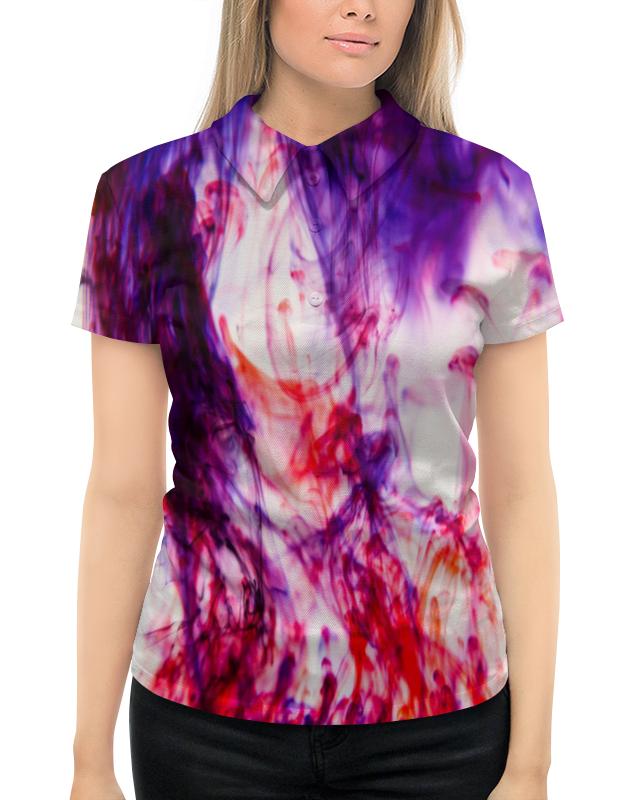 Рубашка Поло с полной запечаткой Printio Цветной дым майка борцовка print bar цветной дым