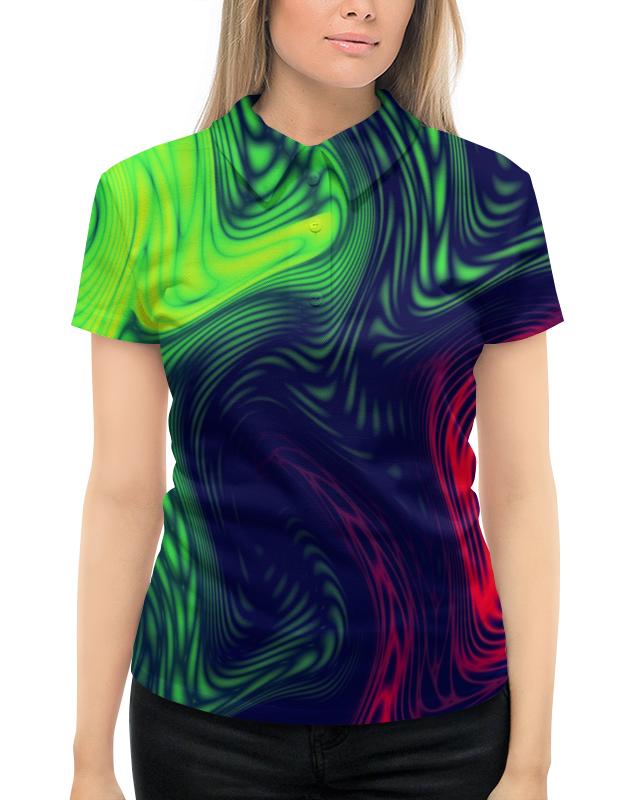 Рубашка Поло с полной запечаткой Printio Радужные краски поло print bar линии краски
