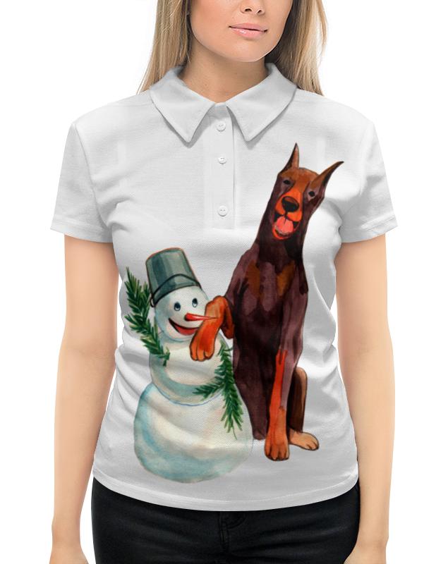 футболка с полной запечаткой для мальчиков printio забавная акварельная собака символ 2018 года Рубашка Поло с полной запечаткой Printio Забавная акварельная собака, символ 2018 года