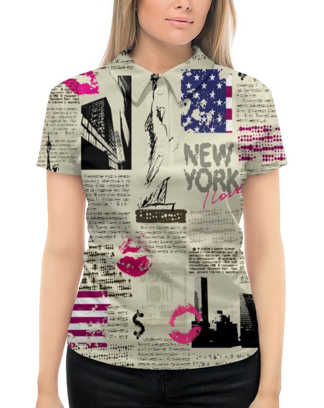 Рубашка Поло с полной запечаткой Printio New york