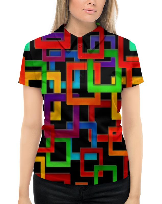 Фото - Printio Цветные квадраты рубашка поло с полной запечаткой printio цветные круги