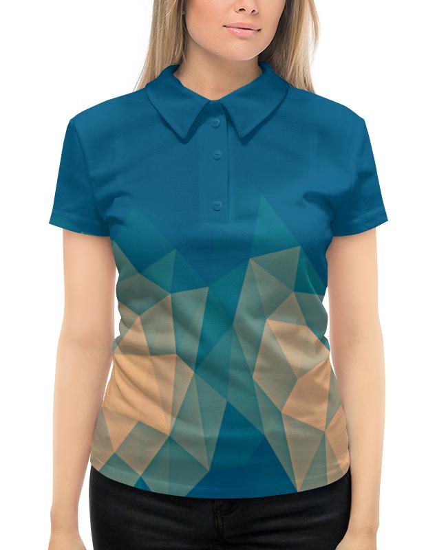 Рубашка Поло с полной запечаткой Printio Объемный синий