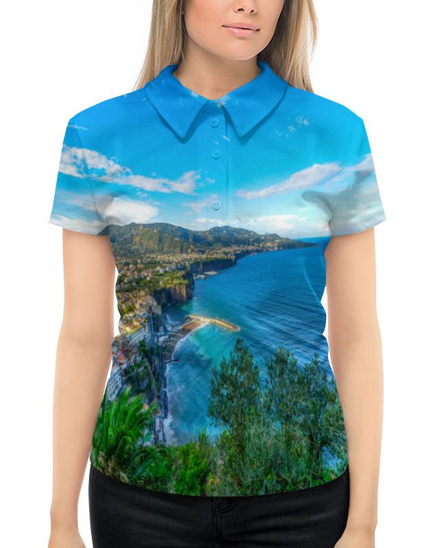 Рубашка Поло с полной запечаткой Printio Город на берегу подушка 60х40 с полной запечаткой printio город на берегу