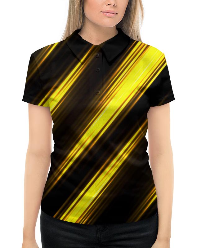 цена на Рубашка Поло с полной запечаткой Printio Желтые полосы