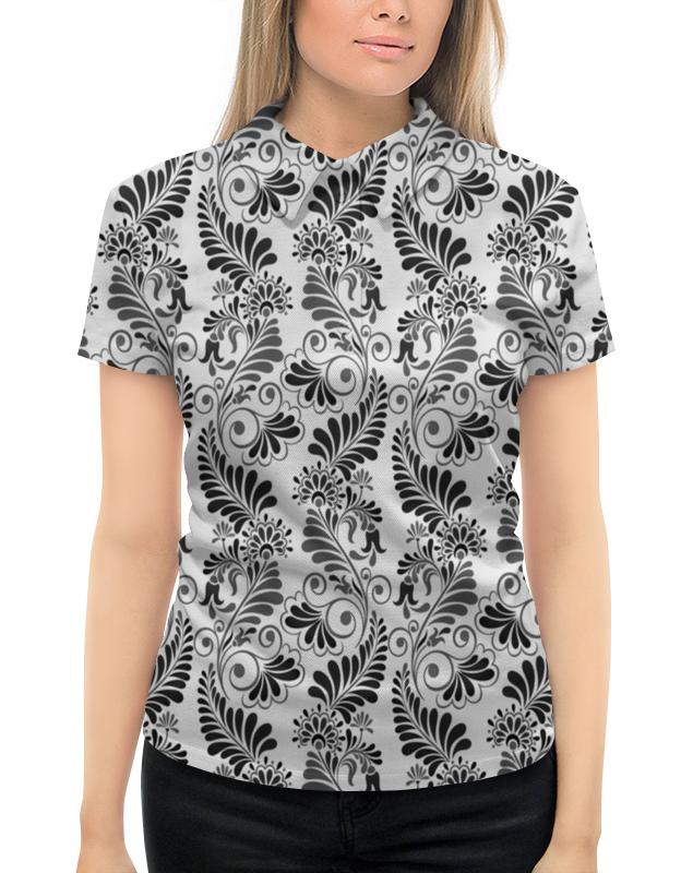 Рубашка Поло с полной запечаткой Printio Черно белая роспись
