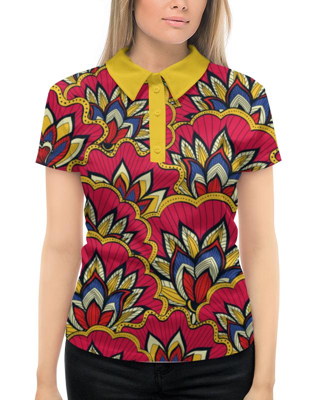 Printio Весенний узор рубашка поло с полной запечаткой printio монстр