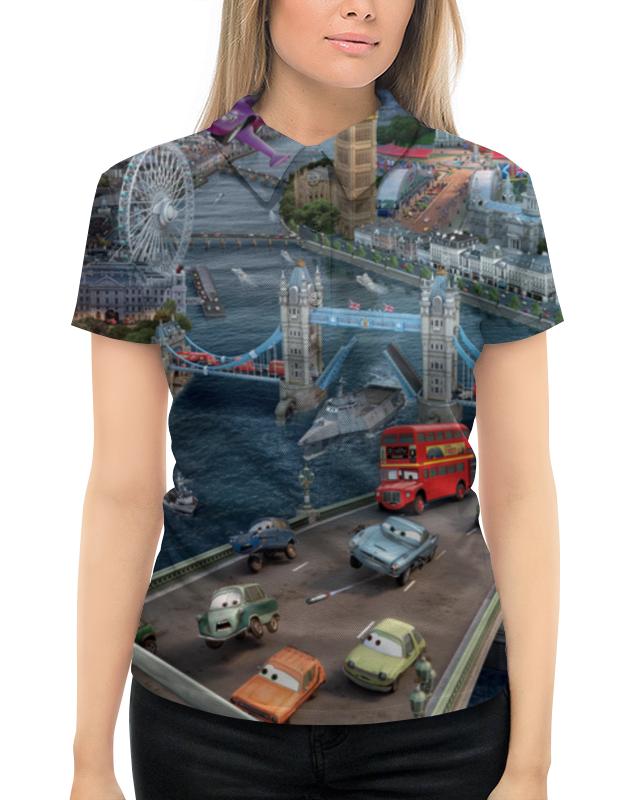 Рубашка Поло с полной запечаткой Printio Тачки
