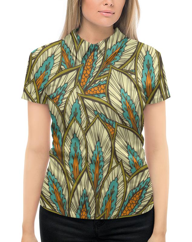 Рубашка Поло с полной запечаткой Printio Узорные листы листы латуни