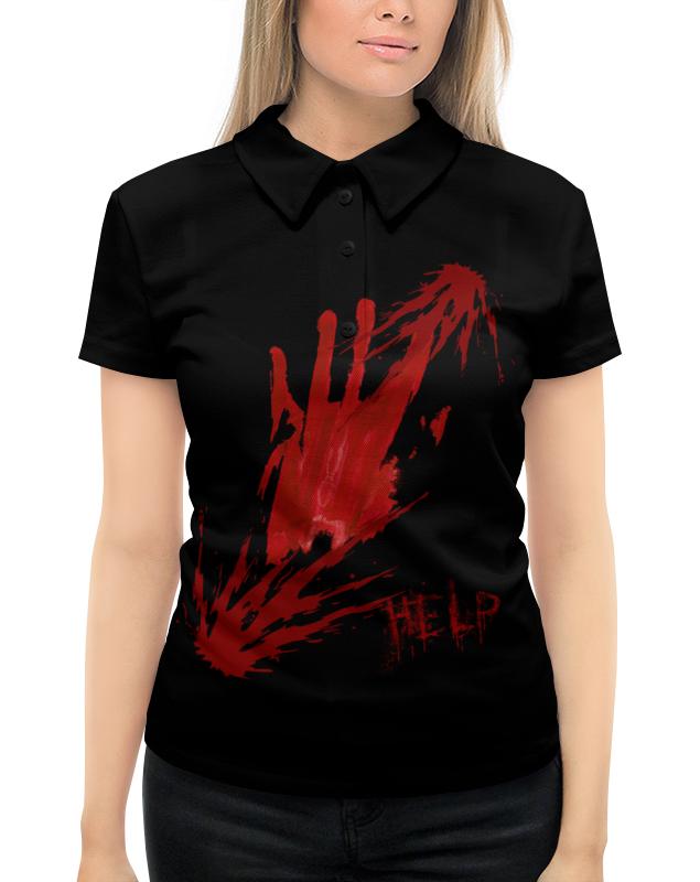 Рубашка Поло с полной запечаткой Printio Walking dead. horror. blood цена 2017