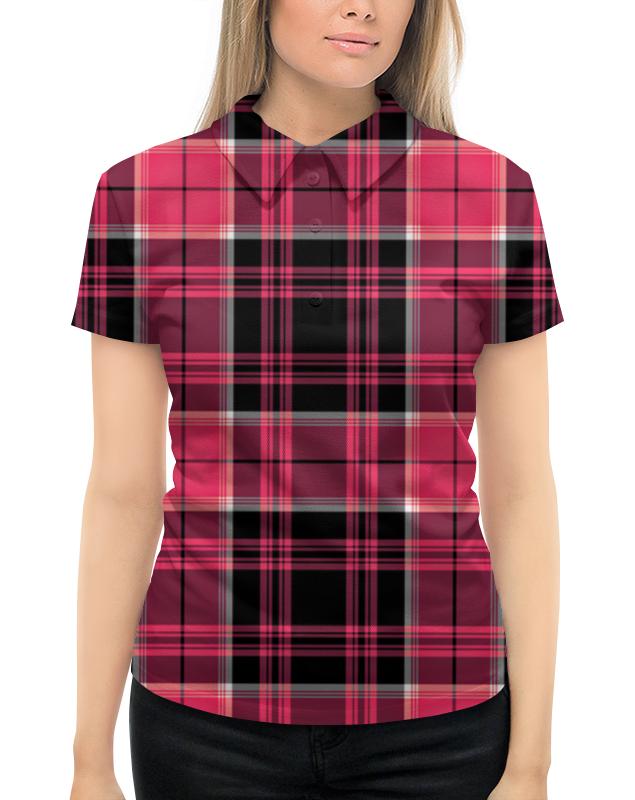 Рубашка Поло с полной запечаткой Printio Клетка.розовый черный квадрат. малевич к с черный квадрат